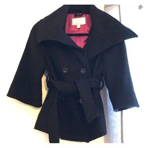 Black bell sleeve pea coat from Old Navy